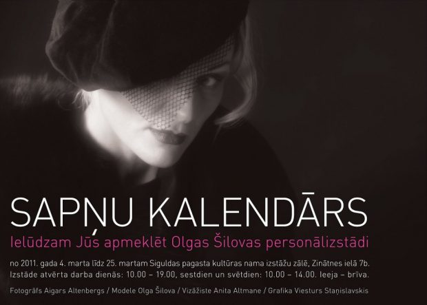 Sapņu kalendārs Sigulda Latvia poster Olga Shilova